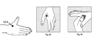 L14 acupressure point to reduce stress